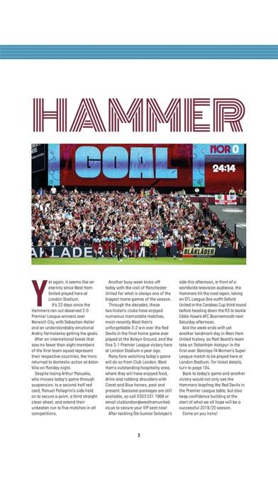 West Ham Official Programme screenshot one