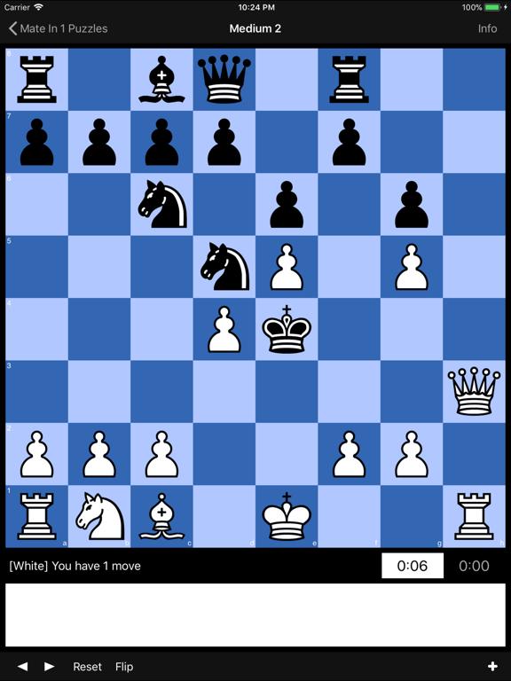 Mate in 1 Chess Puzzlesのおすすめ画像1