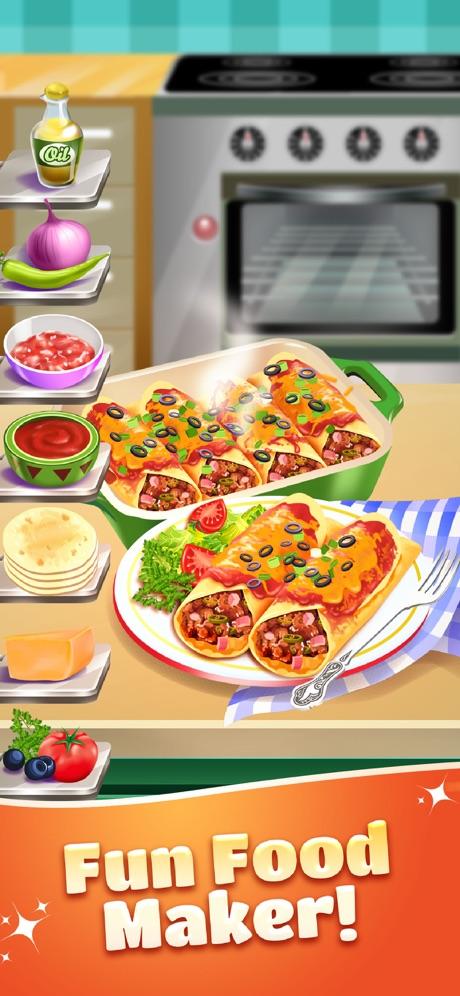 Burrito Maker Food Cooking Fun