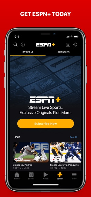Espn Live Sports Scores On The App Store