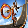 BMXメガランプスタントレースゲーム
