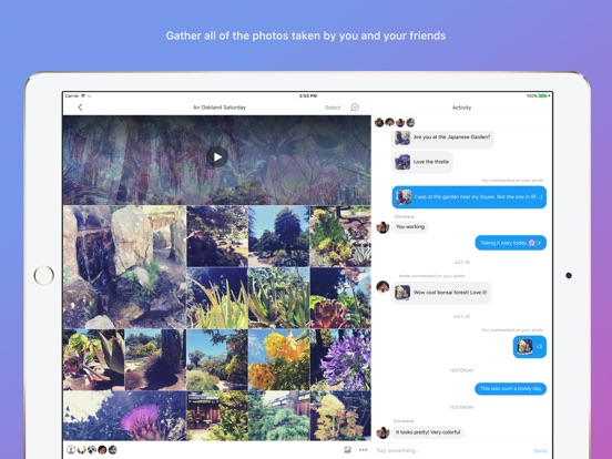 Moments–private shared albums-ipad-1