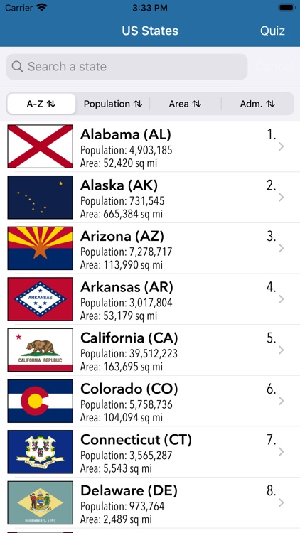 US States Flags Seals Quiz screenshot-0