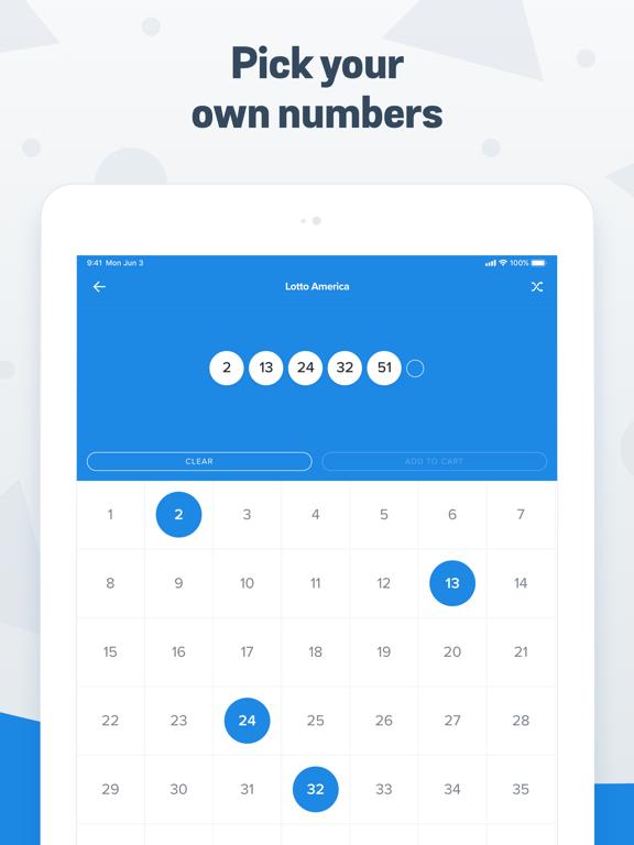 iPad Image of Jackpocket Lottery App