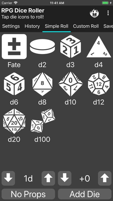 RPG Dice-Roller screenshot #1
