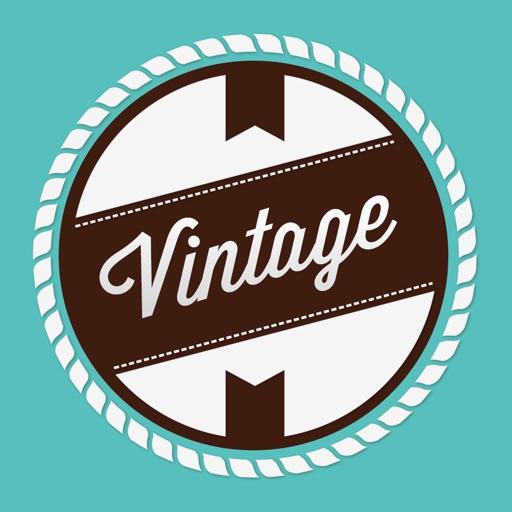 Создать логотип Vintage Design
