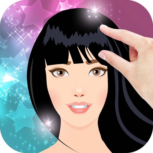 Hairstyle Try On With Bangs iOS App