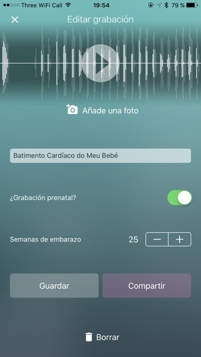 Screenshot for Hear My Baby - Monitoreo Fetal in Spain App Store