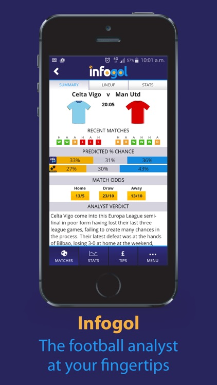 Infogol – Expected Goals App