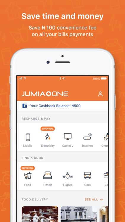 Jumia One: Pay Airtime & Bills