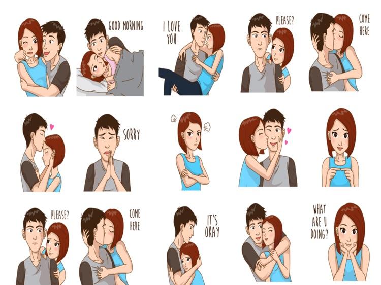 Romance Love Stickers