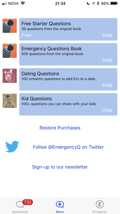 Emergency Questions - RHLSTP screenshot two