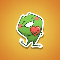 Animated Frog Love Sticker Cut