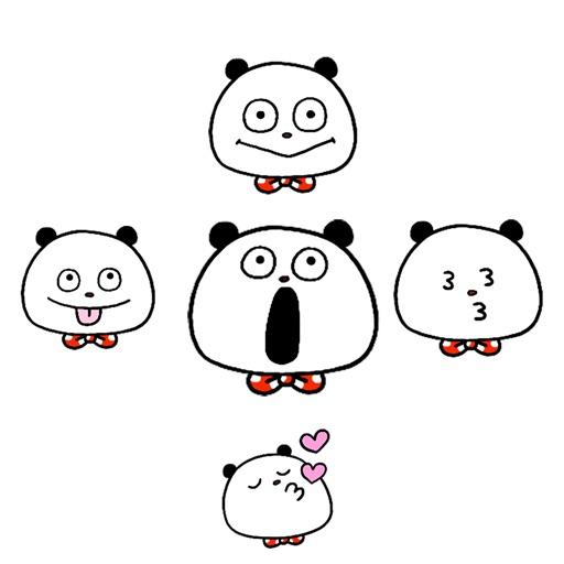 Panda faces stickers