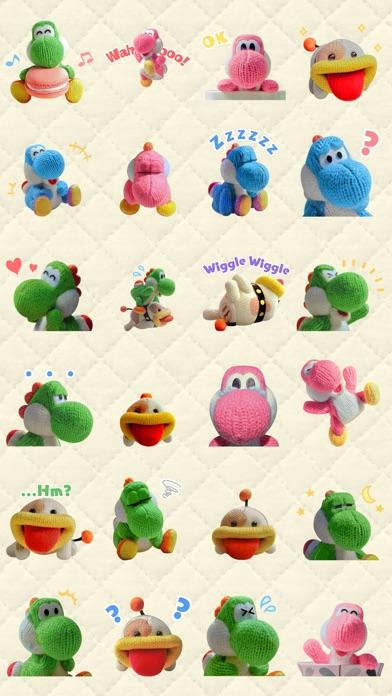 Yarn Yoshi & Poochy Stickers screenshot 1