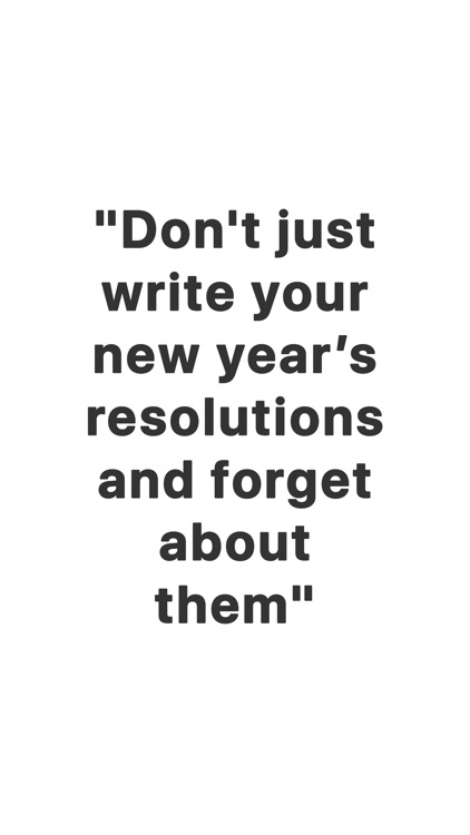 2021 - New Year's Resolutions