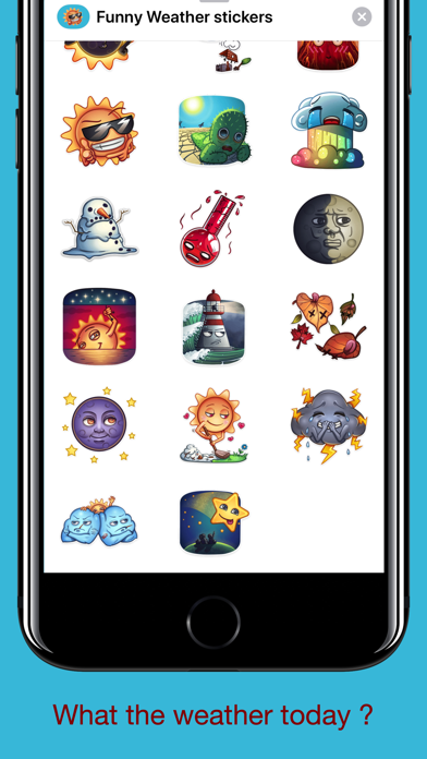 Cute Weather - Funny Stickers | App Price Drops
