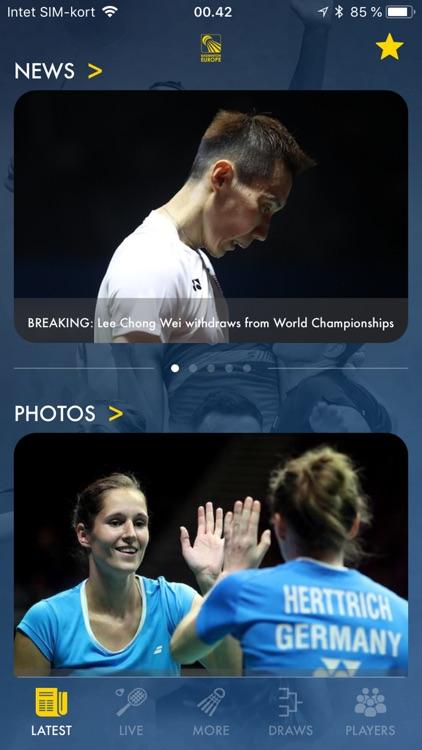 Badminton Live - rank & scores