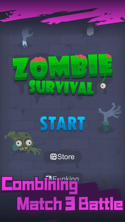 Zombie Survival Blast Match 3 screenshot-0