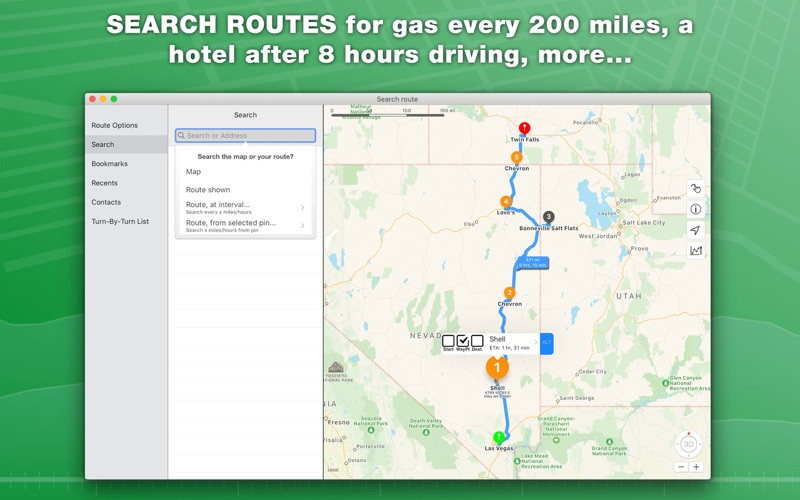 inRoute: Intelligent Routing Screenshot