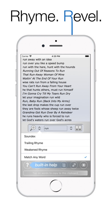 Screenshot for Rhyme Genie Rhyming Dictionary in United States App Store