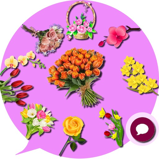 Flowers Emoji Stickers By Mohamed Taoufik