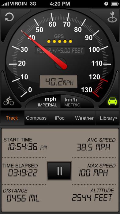 Speedometer GPS+ (Car speedometer, Bike cyclometer) Screenshot 1