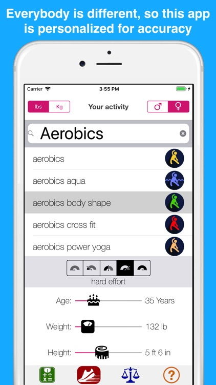 Calorie burn calculator