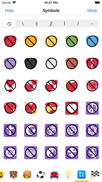 Anti Emoji - Prohibited Sign Screenshot