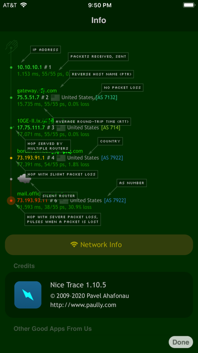 Nice Trace - Traceroute Screenshots