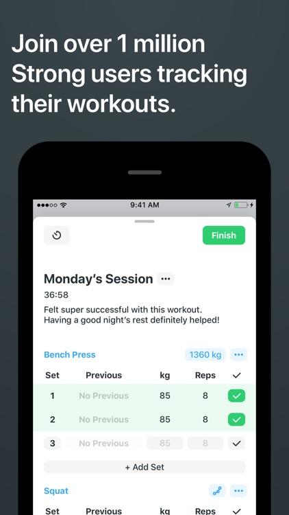 Strong Workout Tracker Gym Log screenshot-0