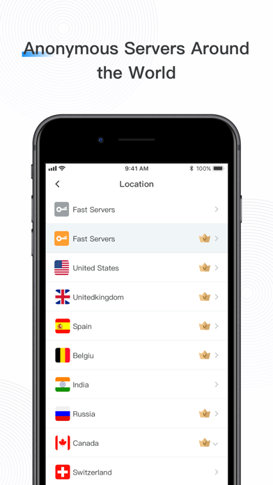 Fast VPN: Private VPN Proxyلقطة شاشة4