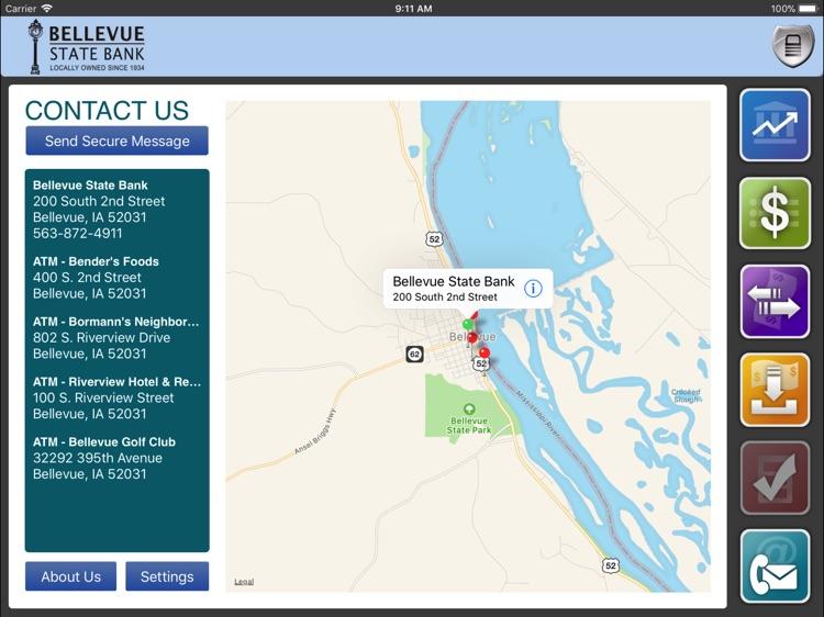 Bellevue State Bank for iPad screenshot-4