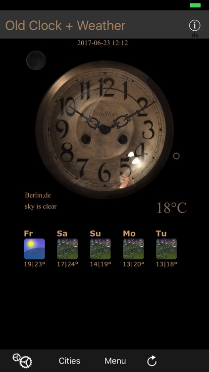 Old Clock+Weather