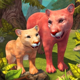 Cougar Family Sim Wild Forest