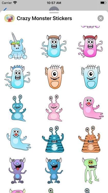 Crazy Monster Sticker Pack screenshot-3
