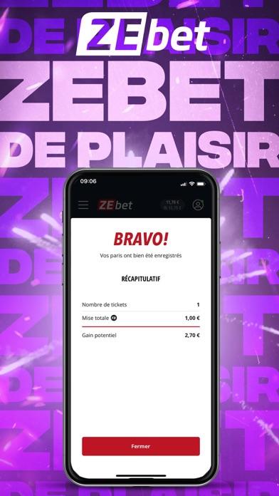 messages.download ZEbet - Paris sportifs software