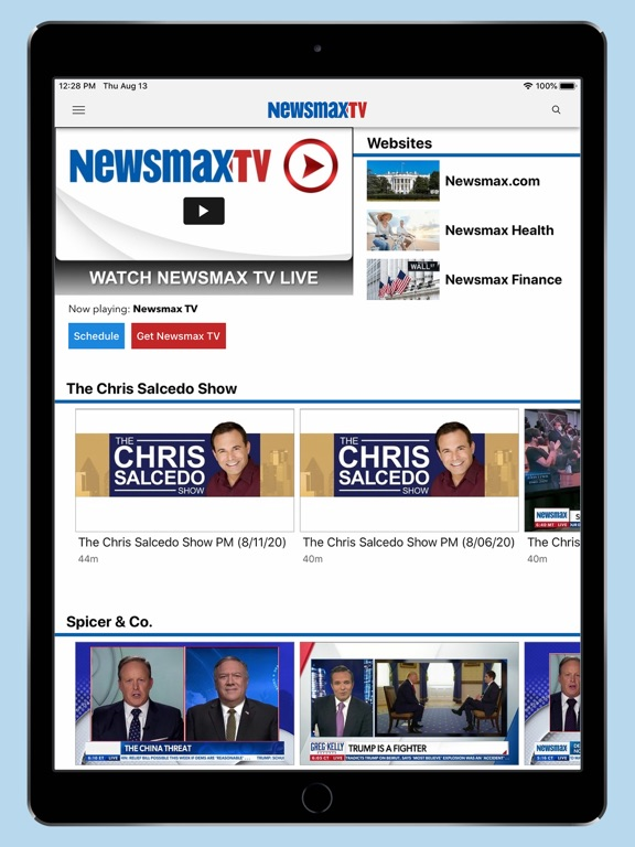 iPad Image of Newsmax TV & Web