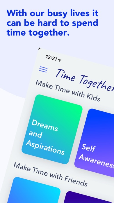 Time Together Family Questions Screenshot