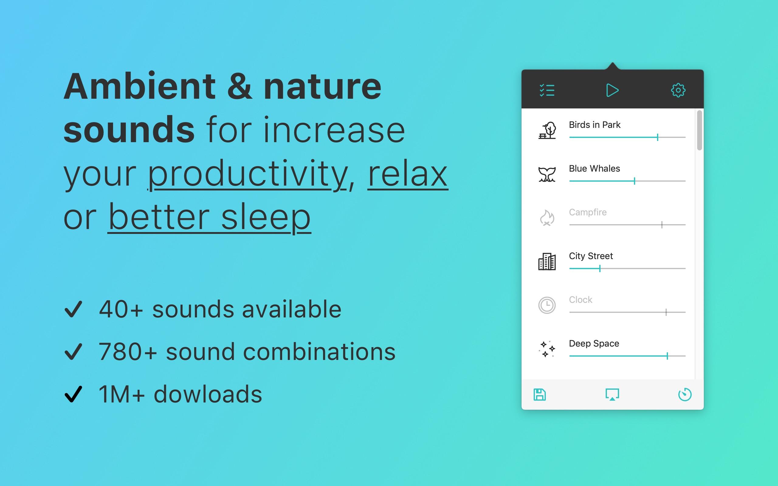 Screenshot do app Noizio — Calm, Meditate, Sleep