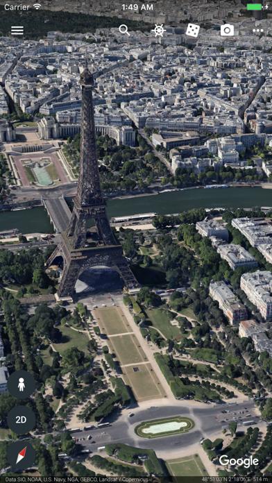 Google Earth iPhone app afbeelding 5