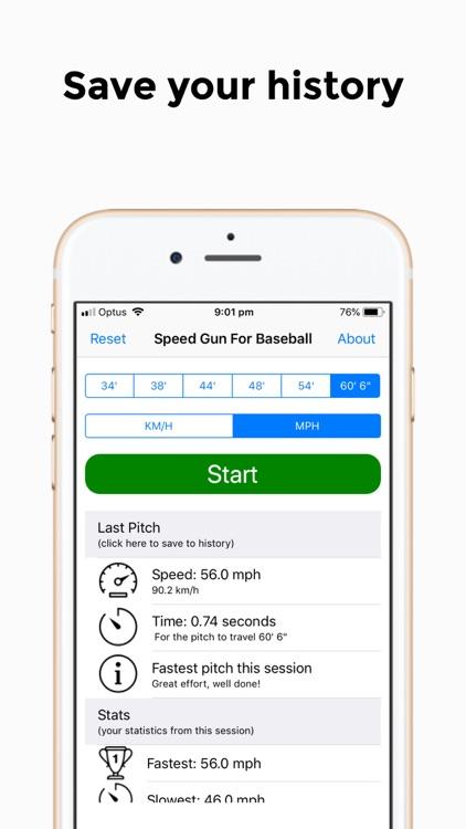 Speed Gun for Baseball Pro screenshot-3