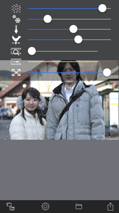 Snow Effect Video app image