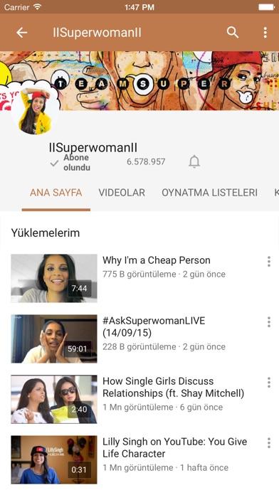 Screenshot for YouTube in Turkey App Store