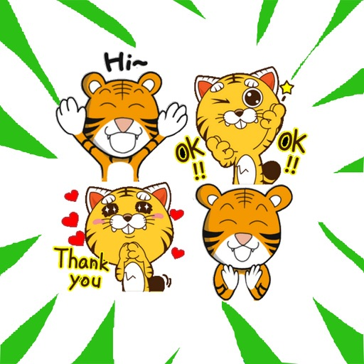 Little Tiger Stickers download