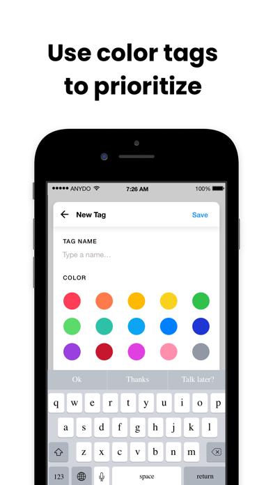 Any.do: To do list & Calendar Screenshot on iOS