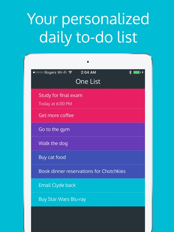 One List - Prioritized To-Do List & Task Manager screenshot