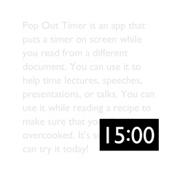 Pop Out Timer