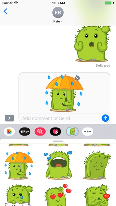 Screenshot for Cactus Emoji Stickers in United States App Store
