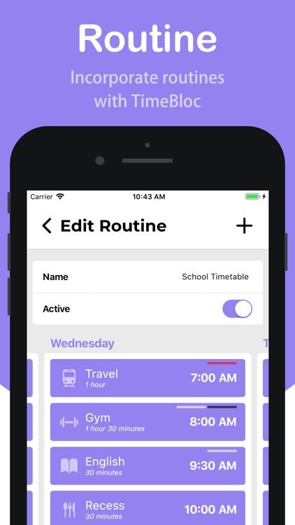TimeBloc - Daily Planner screenshot-3